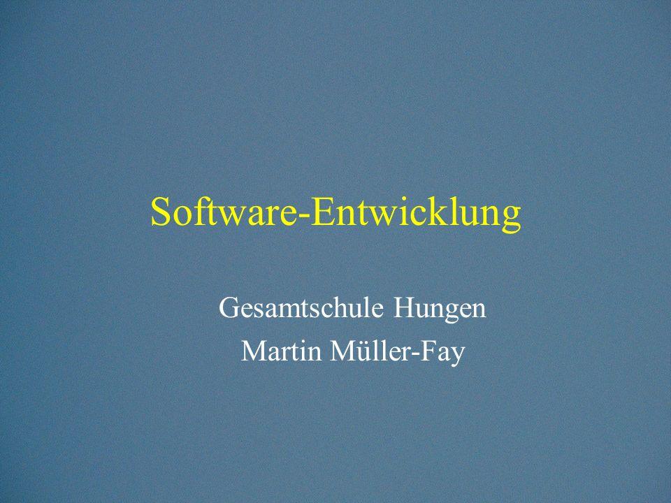 Was versteht man unter Softwareentwicklung.