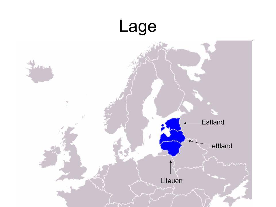 Lage Estland Lettland Litauen