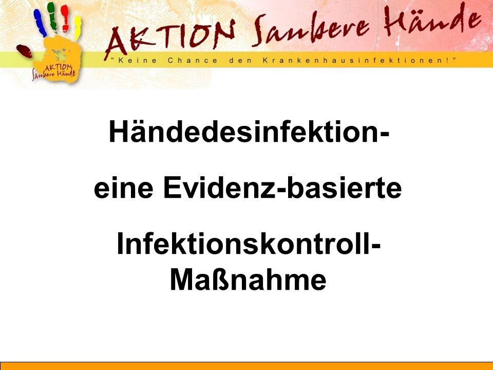 Händedesinfektion- eine Evidenz-basierte Infektionskontroll- Maßnahme