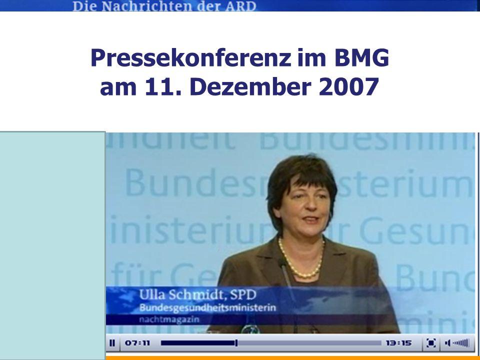 Pressekonferenz im BMG am 11. Dezember 2007