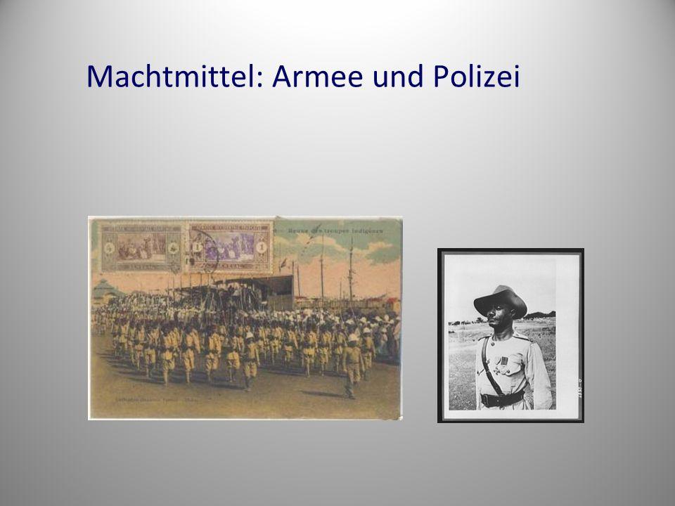 Machtmittel: Armee und Polizei