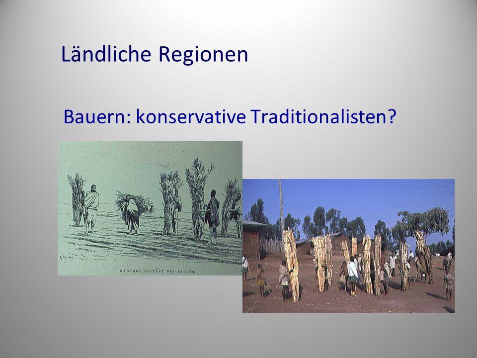 Ländliche Regionen Bauern: konservative Traditionalisten?
