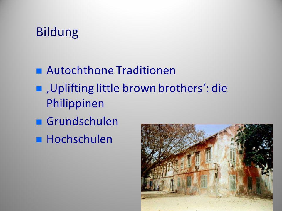 Bildung Autochthone Traditionen 'Uplifting little brown brothers': die Philippinen Grundschulen Hochschulen
