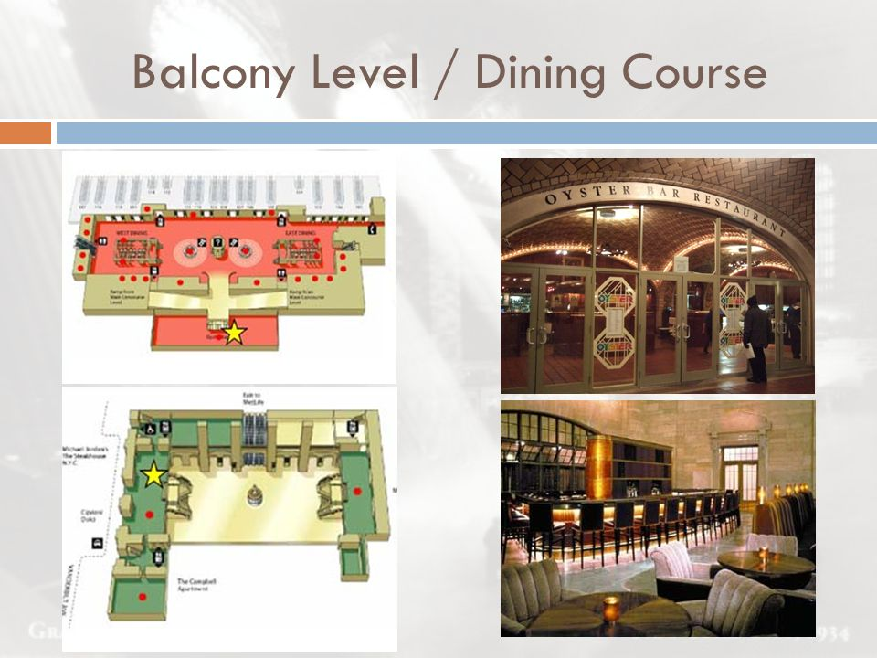 Balcony Level / Dining Course
