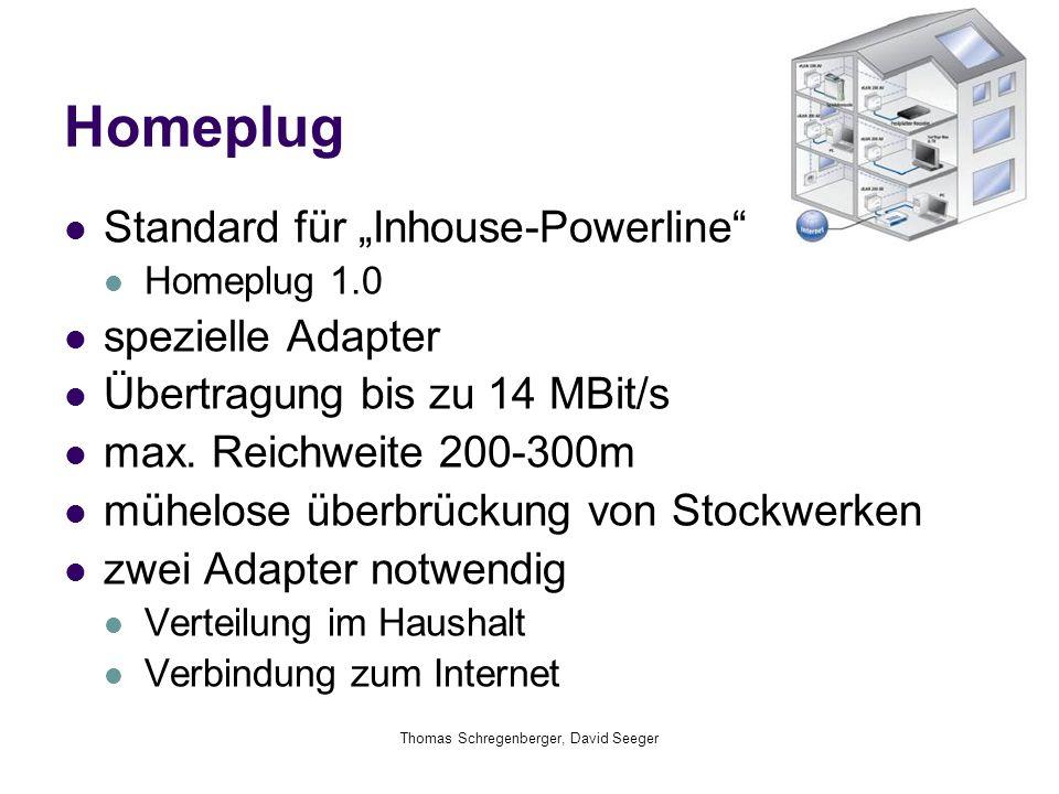 """Homeplug Standard für """"Inhouse-Powerline"""" Homeplug 1.0 spezielle Adapter Übertragung bis zu 14 MBit/s max. Reichweite 200-300m mühelose überbrückung v"""