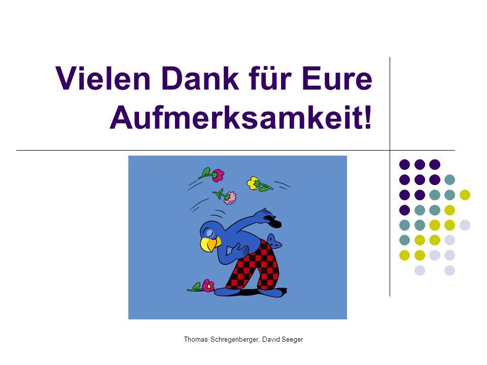 Thomas Schregenberger, David Seeger Vielen Dank für Eure Aufmerksamkeit!