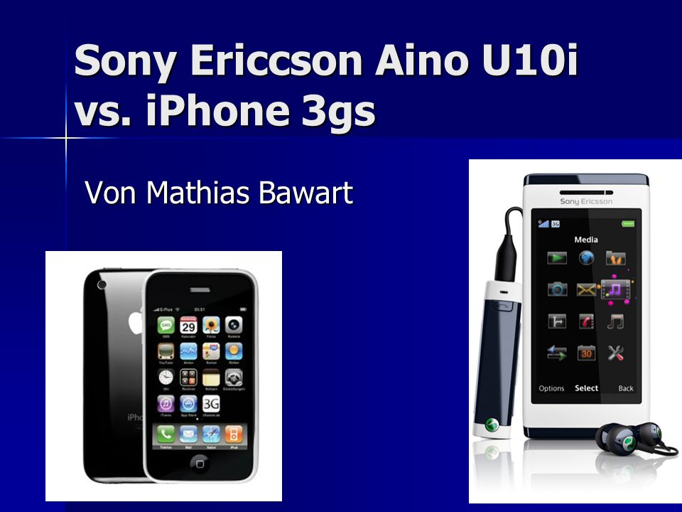 Sony Ericcson Aino U10i vs. iPhone 3gs Von Mathias Bawart
