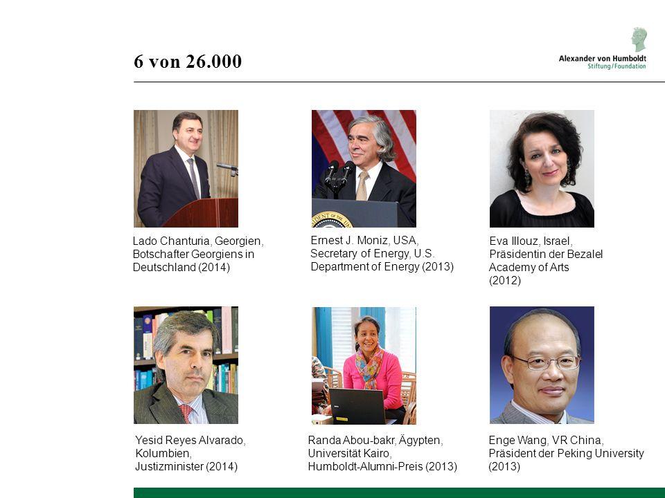 6 von 26.000 Yesid Reyes Alvarado, Kolumbien, Justizminister (2014) Lado Chanturia, Georgien, Botschafter Georgiens in Deutschland (2014) Ernest J.