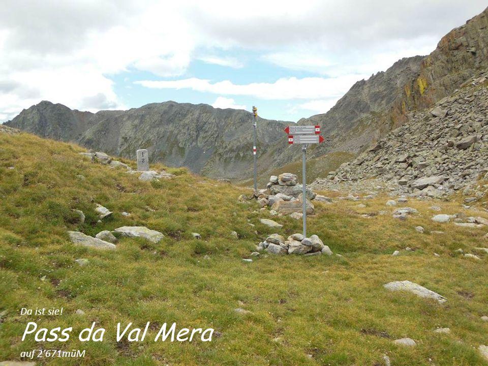 Da ist sie! Pass da Val Mera auf 2'671müM