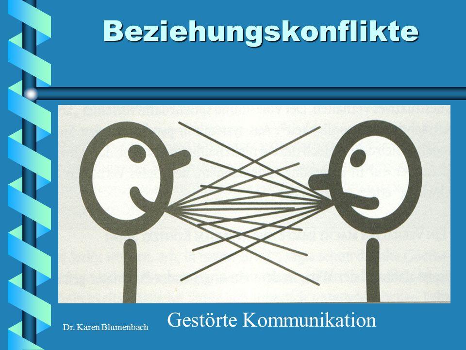 Dr. Karen Blumenbach Beziehungskonflikte Gestörte Kommunikation