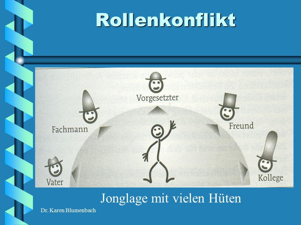 Dr. Karen Blumenbach Rollenkonflikt Jonglage mit vielen Hüten