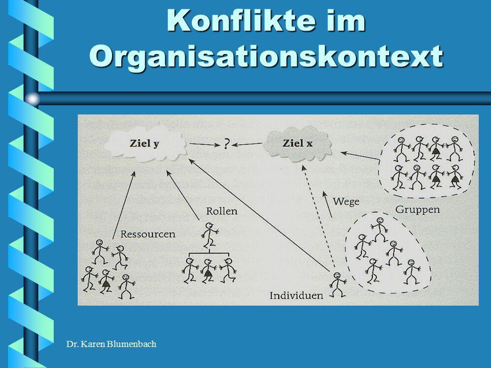 Dr. Karen Blumenbach Konflikte im Organisationskontext