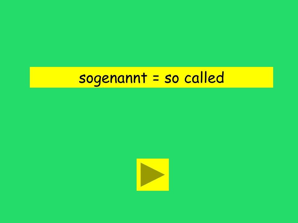 sogenannt = so called