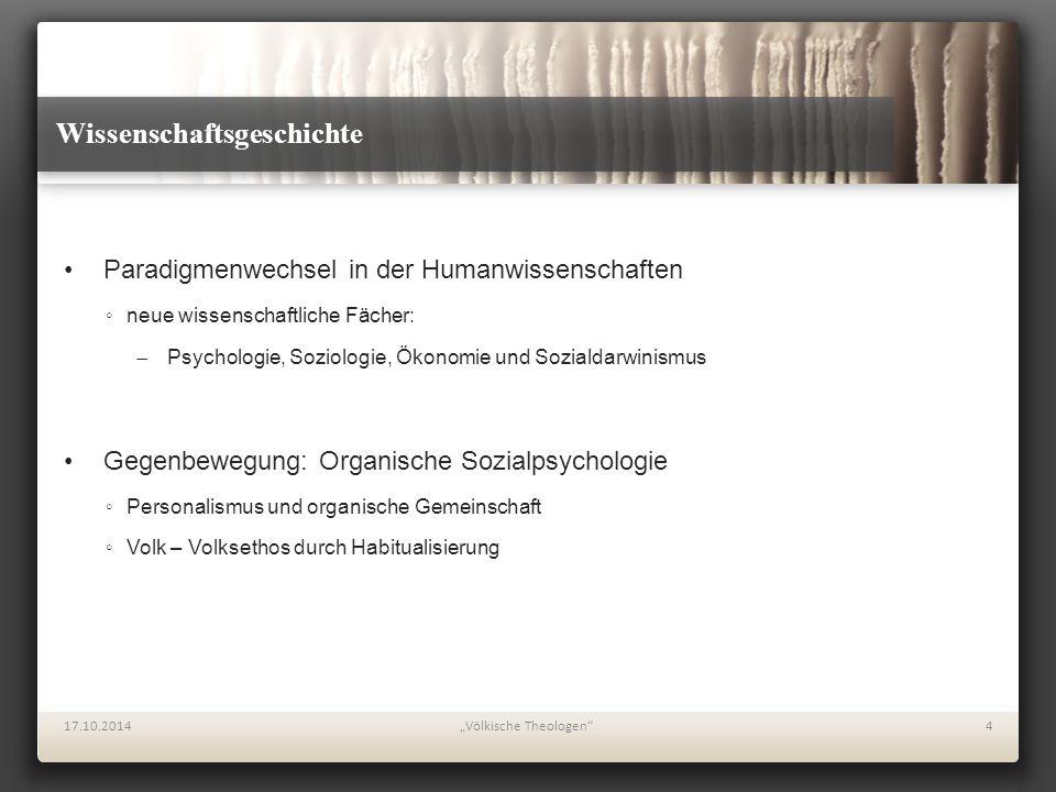 Wissenschaftsgeschichte Paradigmenwechsel in der Humanwissenschaften ◦neue wissenschaftliche Fächer:  Psychologie, Soziologie, Ökonomie und Sozialdar