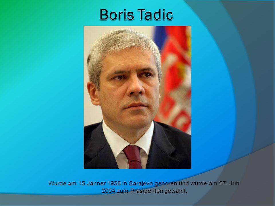 Wurde am 15 Jänner 1958 in Sarajevo geboren und wurde am 27. Juni 2004 zum Präsidenten gewählt.