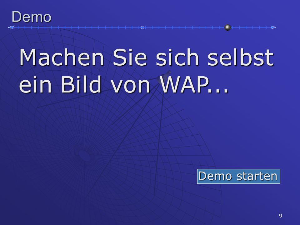 9Demo Machen Sie sich selbst ein Bild von WAP... Demo starten