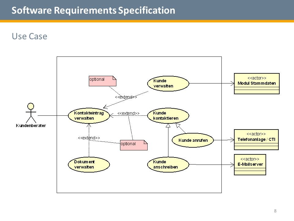 Software Requirements Specification Use Case 8