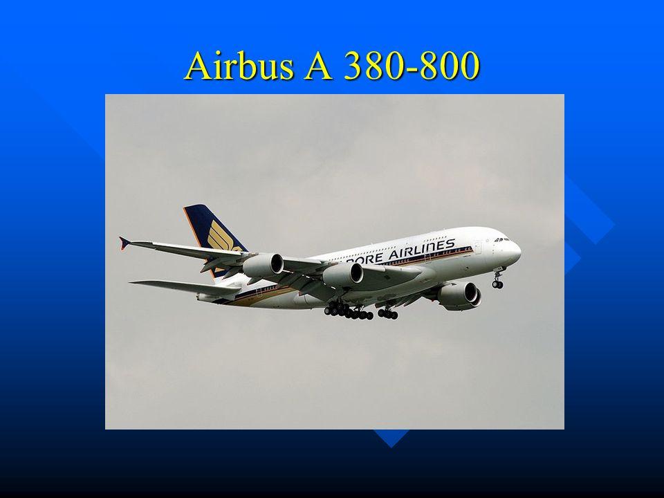 Allgemeines ein vierstrahliges Großraumflugzeug des europäischen Flugzeugbauers.Airbus S.A.S Spannweite: 79,80 m Höhe: 24,10 m Triebwerksdurchmesser: 2,95 m Kabinenlänge: 50,68 m Flugweite: 12.200 km Durchschnittliche Startrollstrecke: 3.353 m Passagierkapazität: (3 Klassen) 525 Maximale Tankkapazität: 310.000 l Fahrwerk 22 Räder