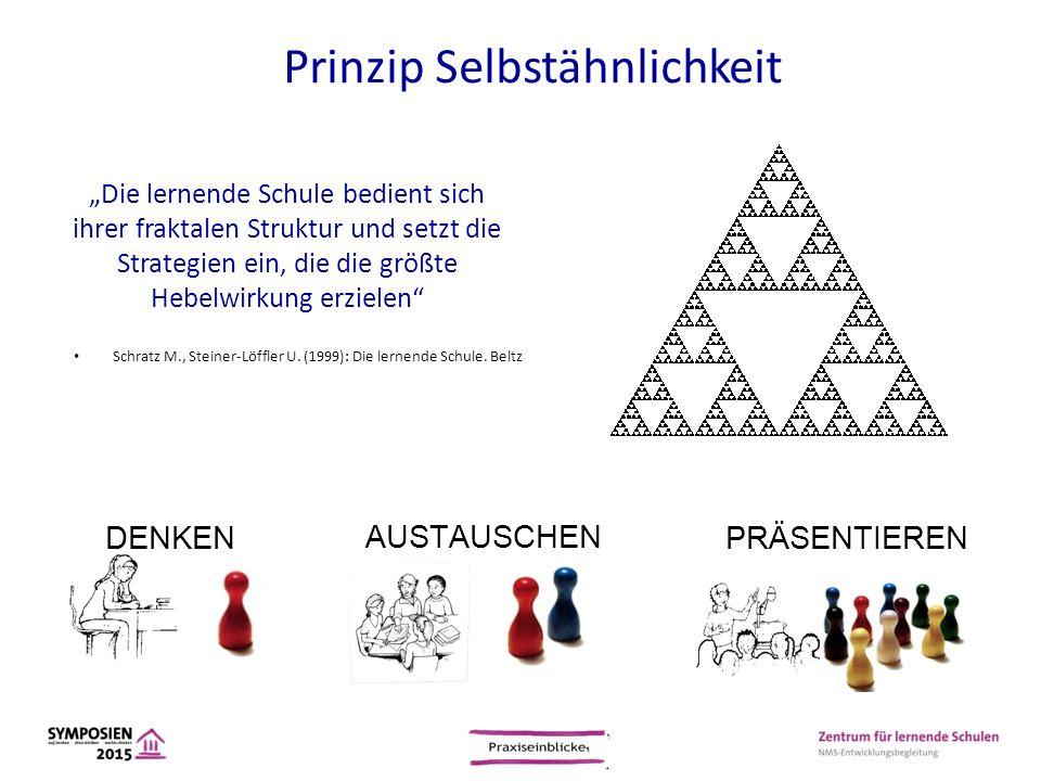 """""""Die lernende Schule bedient sich ihrer fraktalen Struktur und setzt die Strategien ein, die die größte Hebelwirkung erzielen"""" Schratz M., Steiner-Löf"""