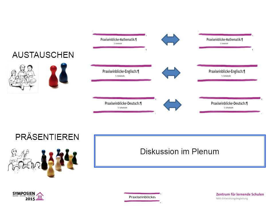 AUSTAUSCHEN PRÄSENTIEREN Diskussion im Plenum