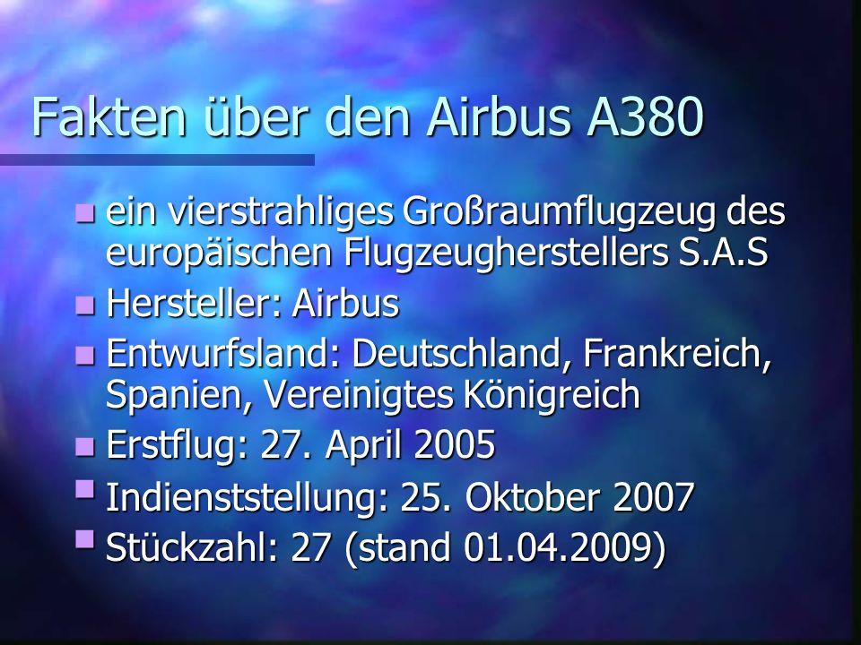Der Airbus A380 Ist das größte Passagierflugzeug der Welt!