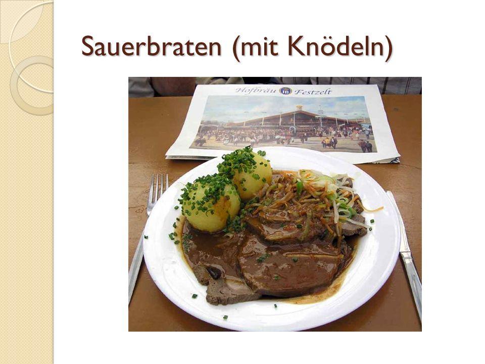Sauerbraten (mit Knödeln)
