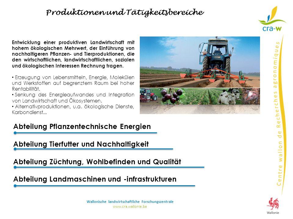 Abteilung Pflanzentechnische Energien Abteilung Tierfutter und Nachhaltigkeit Abteilung Züchtung, Wohlbefinden und Qualität Abteilung Landmaschinen un