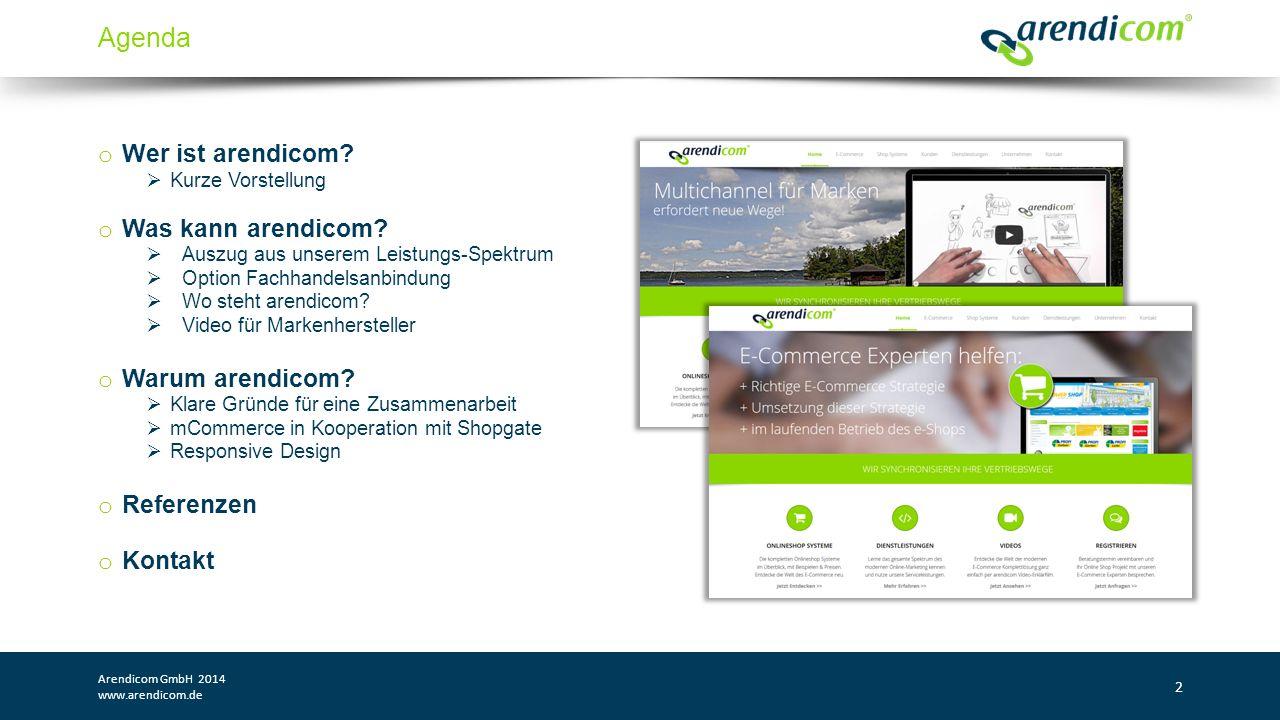 Mobile Commerce und Responsive Design Arendicom GmbH 2014 www.arendicom.de 13