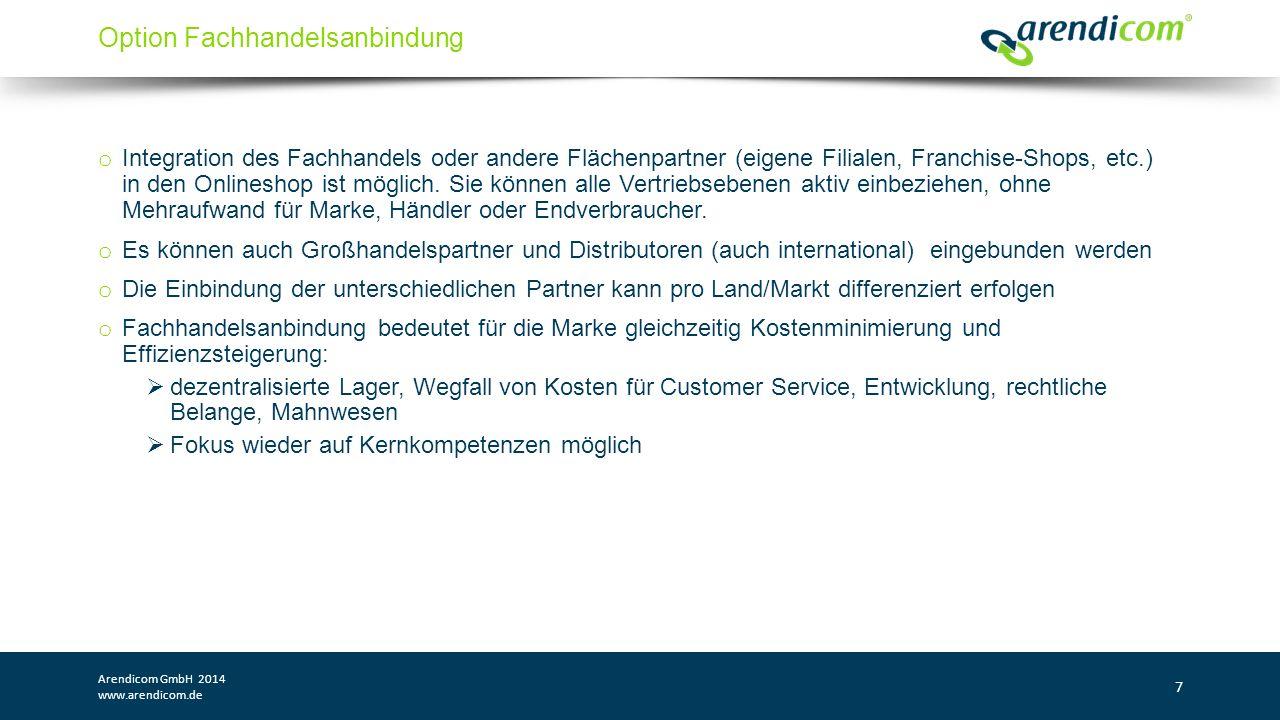 Arendicom GmbH 2014 www.arendicom.de 18