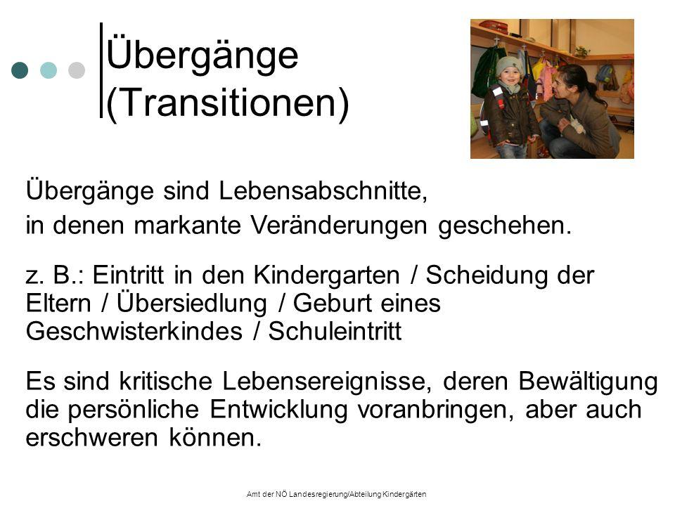 Übergänge (Transitionen) Übergänge sind Lebensabschnitte, in denen markante Veränderungen geschehen.