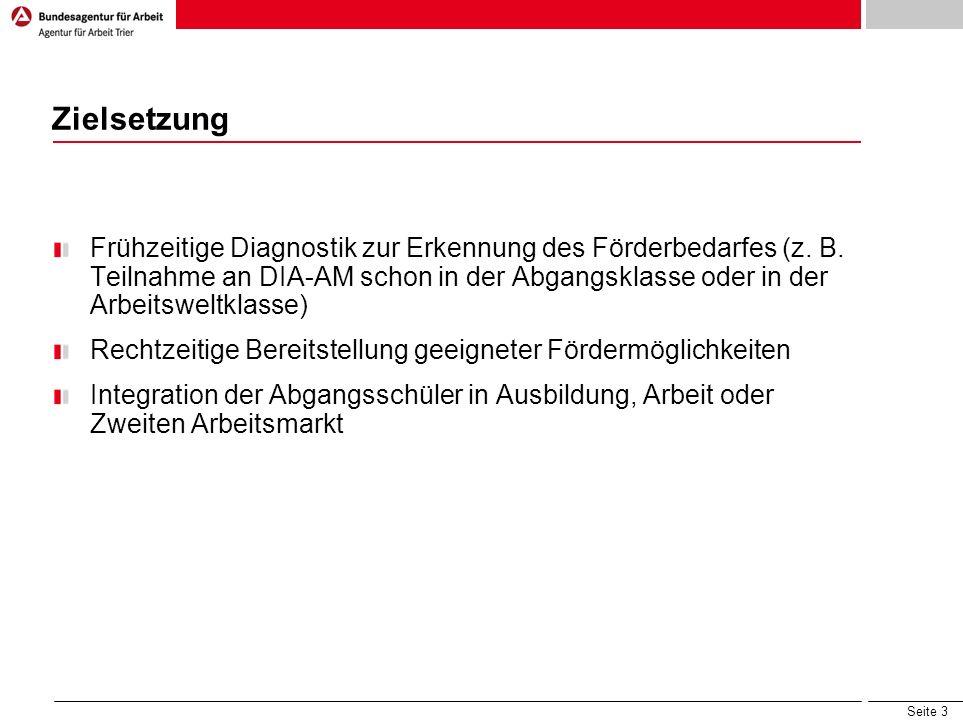 Seite 3 Zielsetzung Frühzeitige Diagnostik zur Erkennung des Förderbedarfes (z.