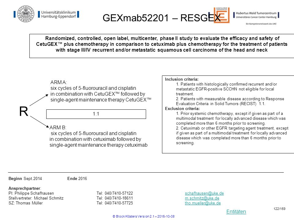 Entitäten GEXmab52201 – RESGEX Randomized, controlled, open label, multicenter, phase II study to evaluate the efficacy and safety of CetuGEX™ plus ch