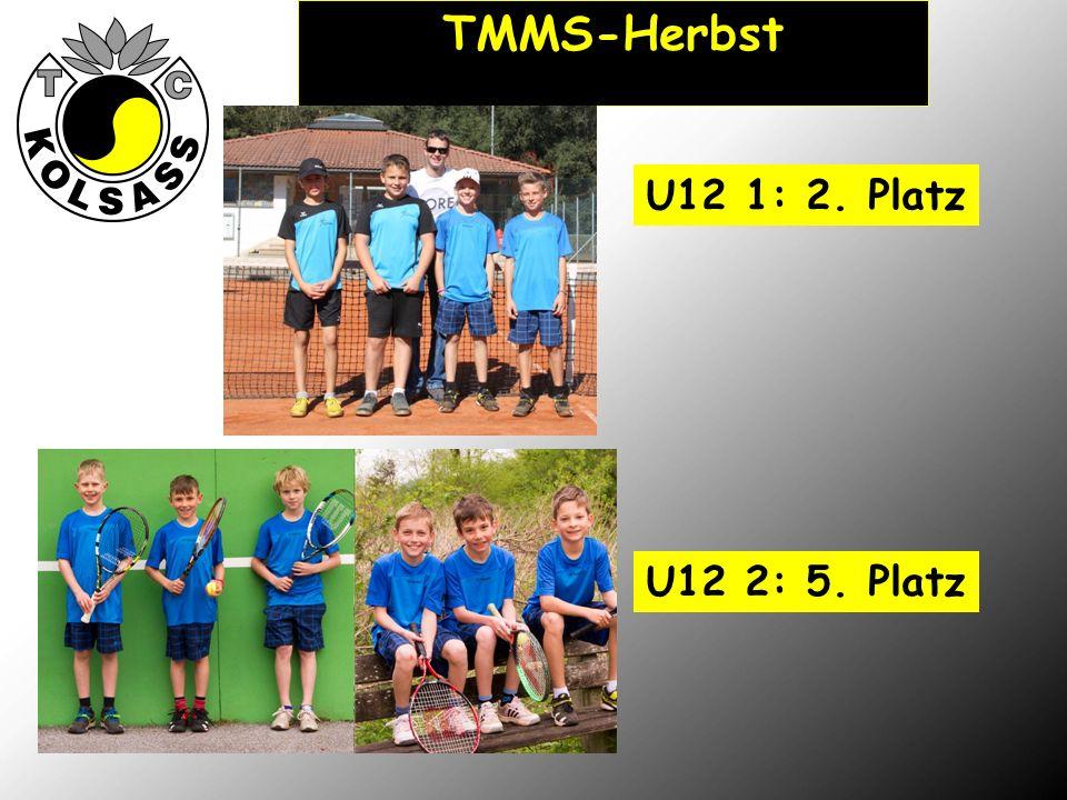 TMMS-Herbst U12 1: 2. Platz U12 2: 5. Platz