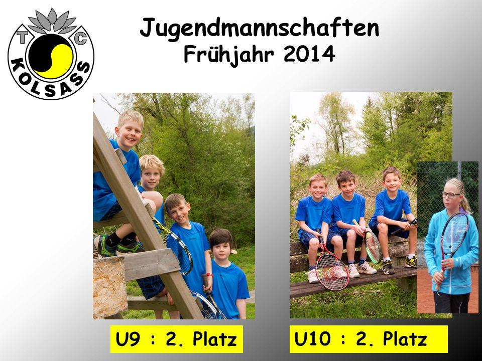 Jugendmannschaften Frühjahr 2014 U10 : 2. Platz U9 : 2. Platz