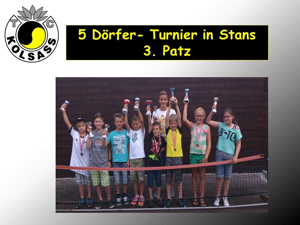 , 5 Dörfer- Turnier in Stans 3. Patz