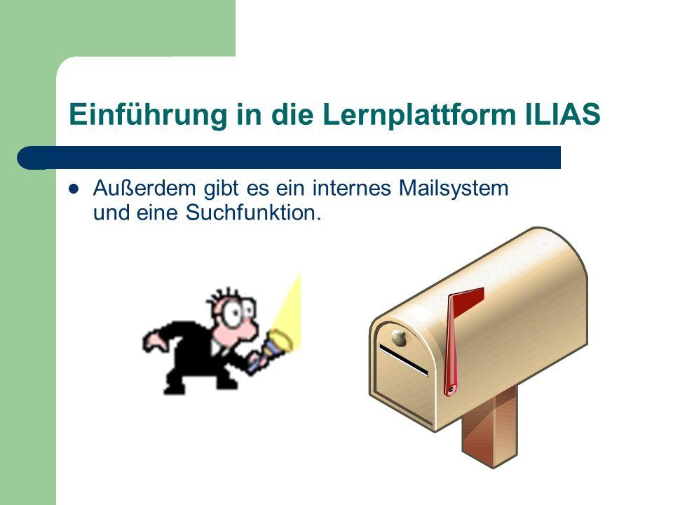 Einführung in die Lernplattform ILIAS Das Magazin ist wie die Ordnerstruktur im Windows aufgebaut.