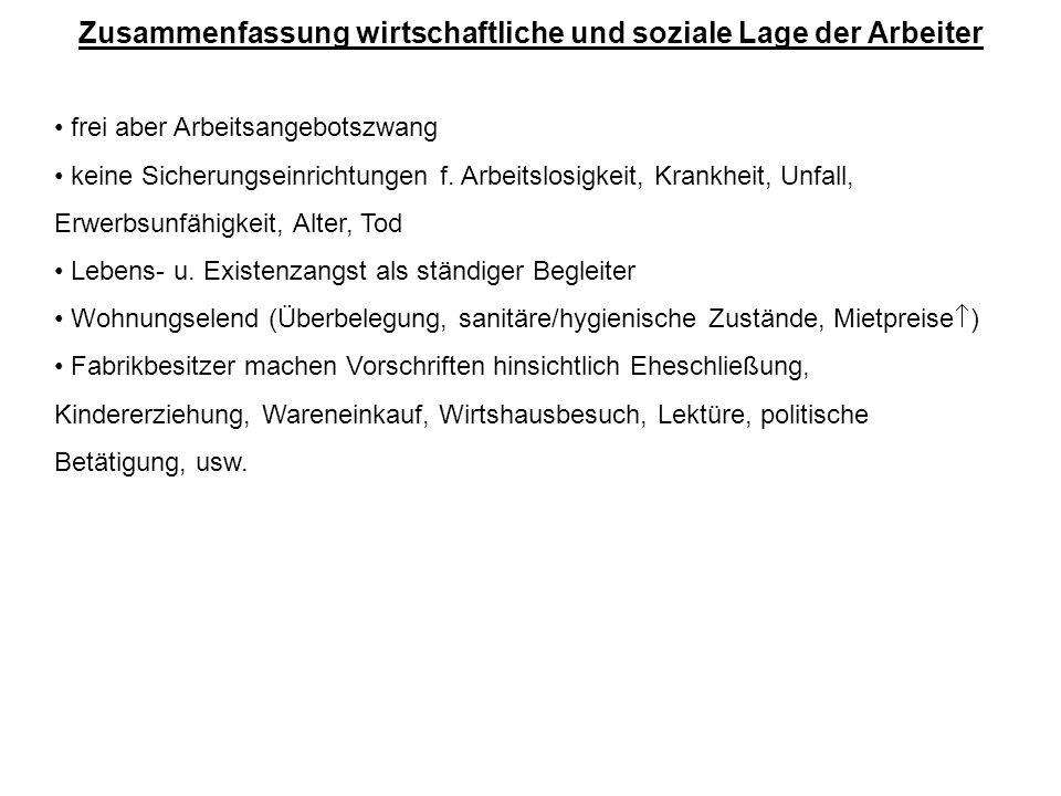 Die soziale Wende … Arbeitnehmerschutzgesetz (1839) f.