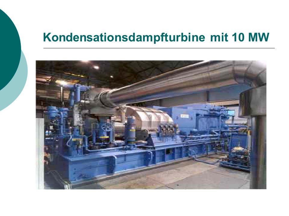Kondensationsdampfturbine mit 10 MW