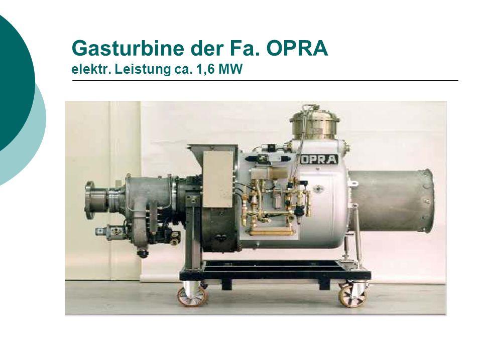 Gasturbine der Fa. OPRA elektr. Leistung ca. 1,6 MW