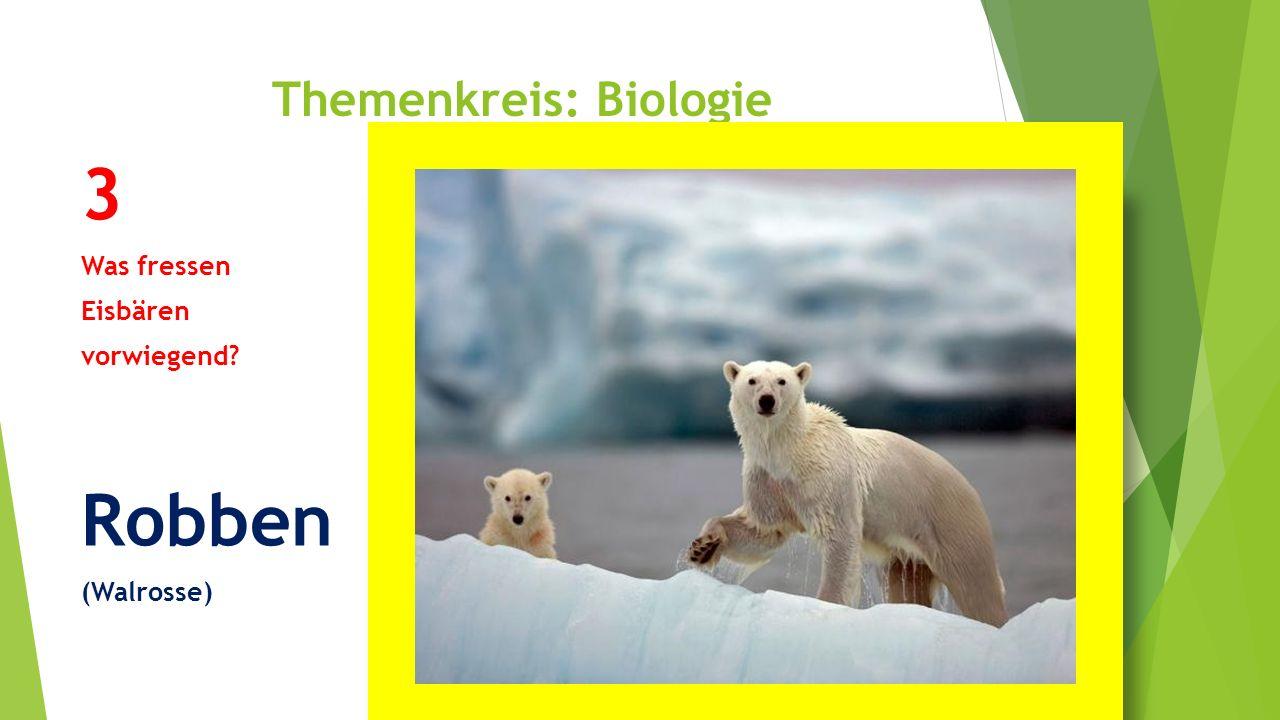 Themenkreis: Biologie 4 Was ist die Bedeutung des Stosszahnes bei männlichen Narwalen?