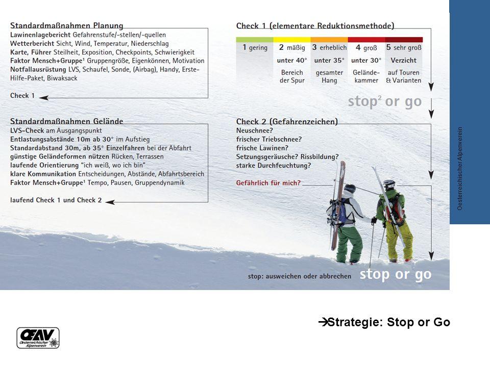  Strategie: Stop or Go Oesterreichischer Alpenverein