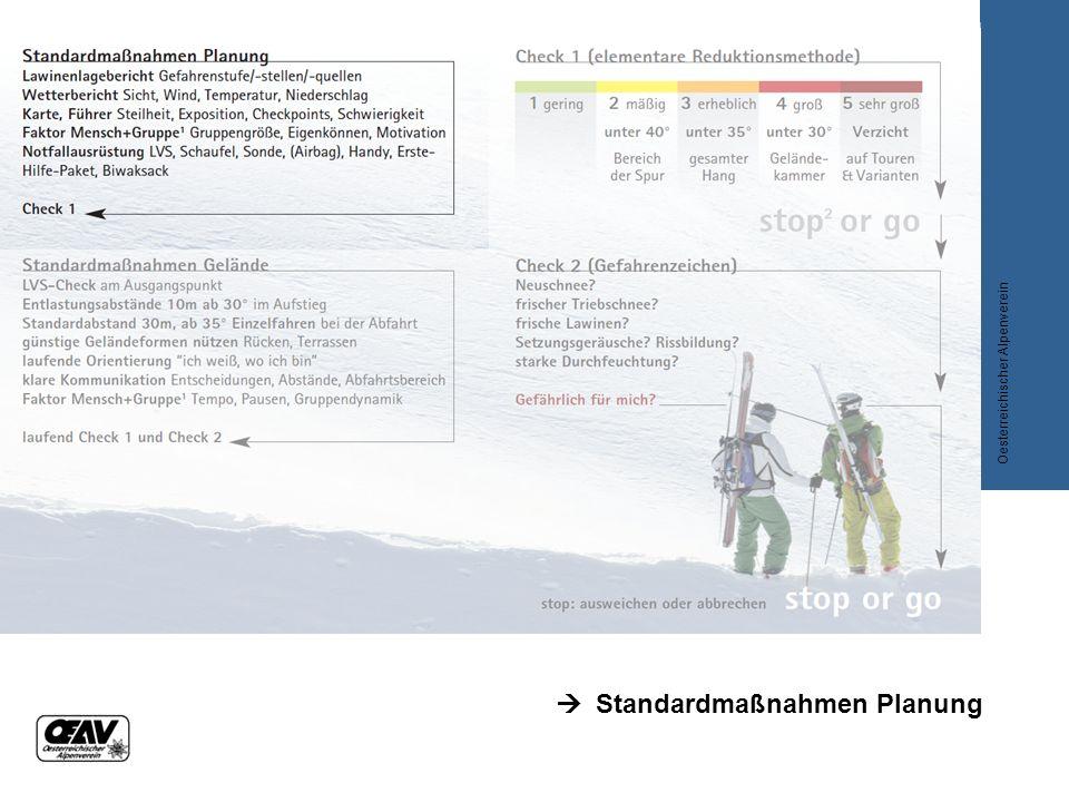  Standardmaßnahmen Planung Oesterreichischer Alpenverein
