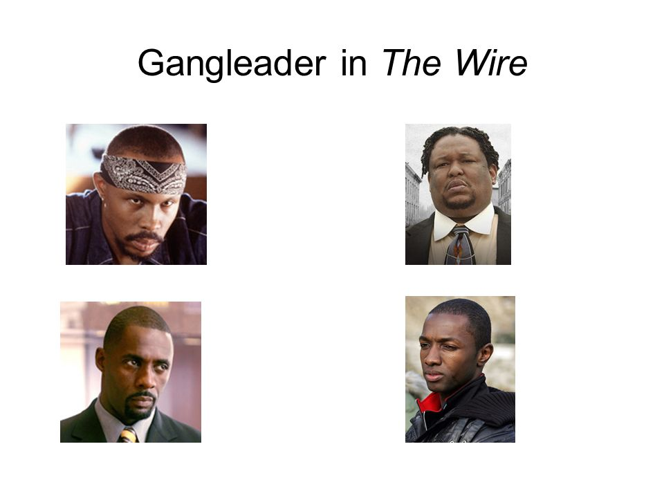 Gangleader in The Wire