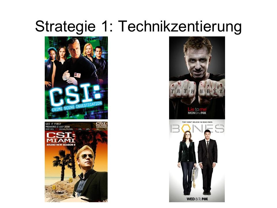 Strategie 1: Technikzentierung