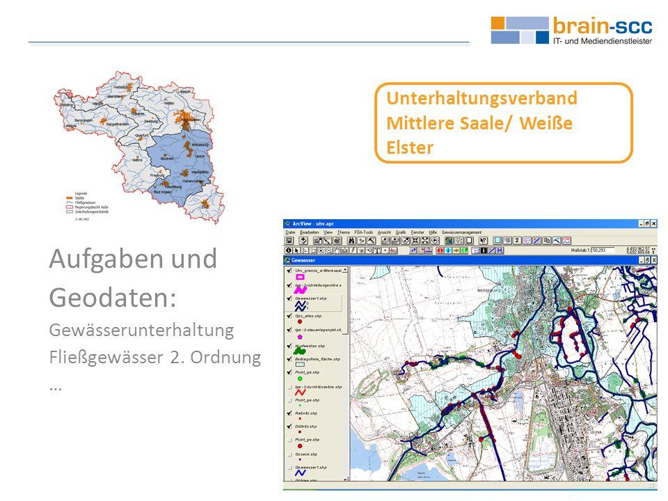 Unterhaltungsverband Mittlere Saale/ Weiße Elster Aufgaben und Geodaten: Gewässerunterhaltung Fließgewässer 2.