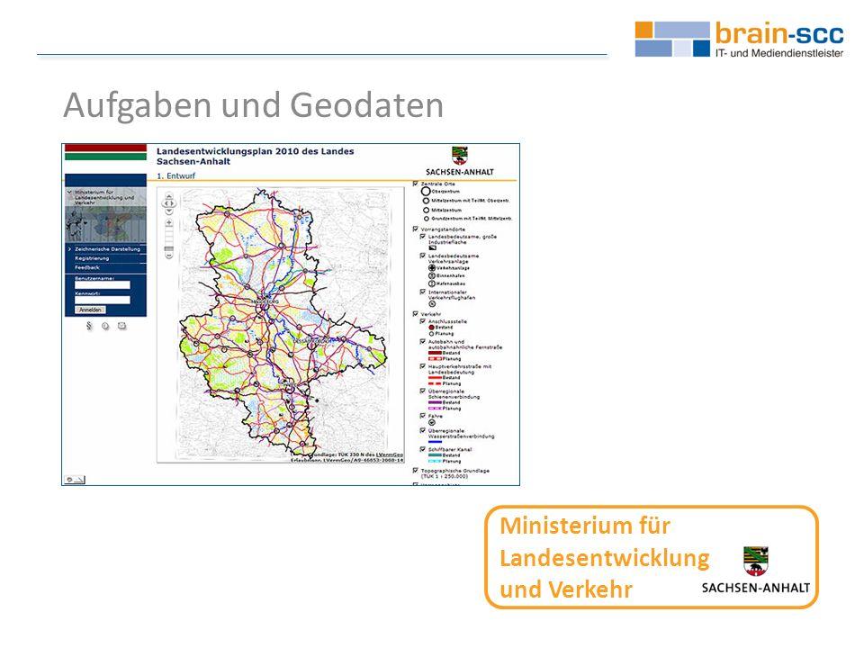 Ministerium für Landesentwicklung und Verkehr Aufgaben und Geodaten