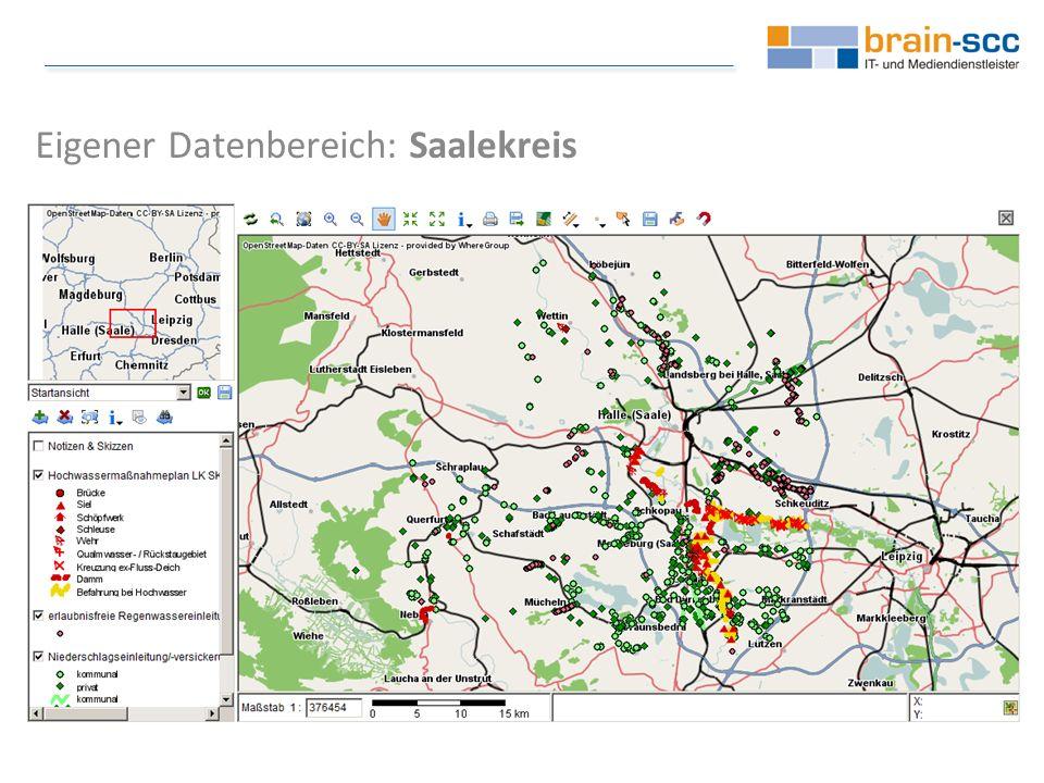Eigener Datenbereich: Saalekreis