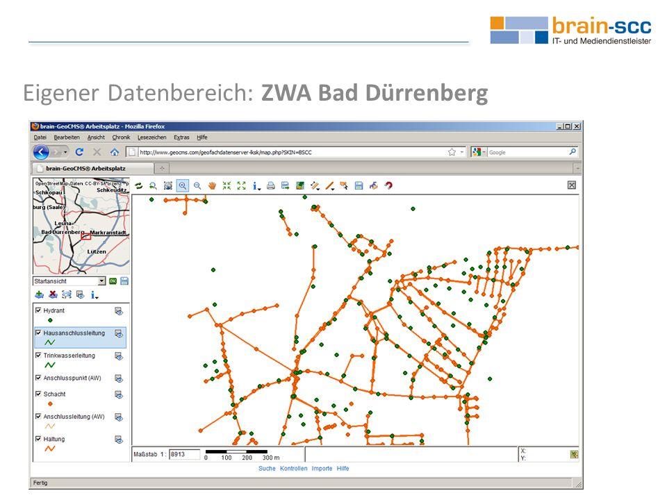 Eigener Datenbereich: ZWA Bad Dürrenberg