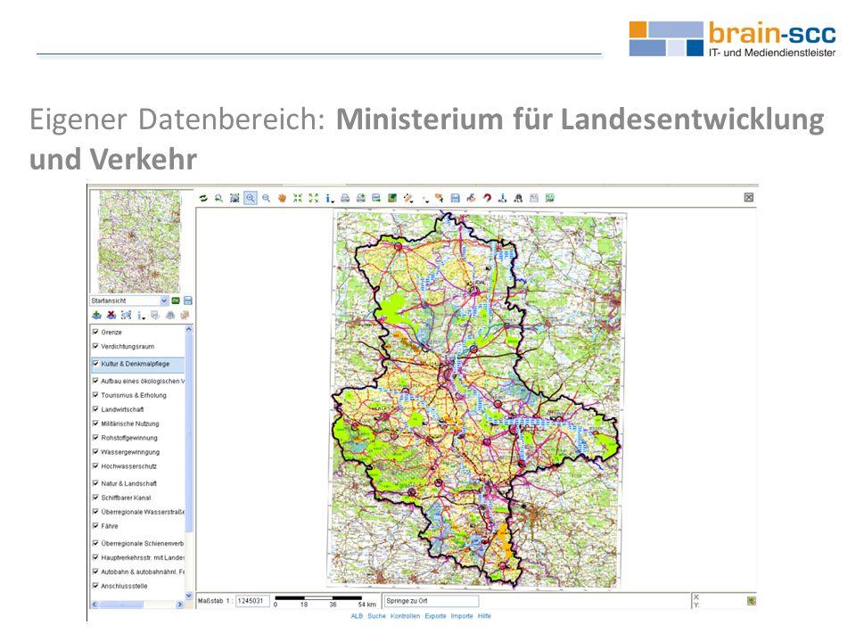 Eigener Datenbereich: Ministerium für Landesentwicklung und Verkehr