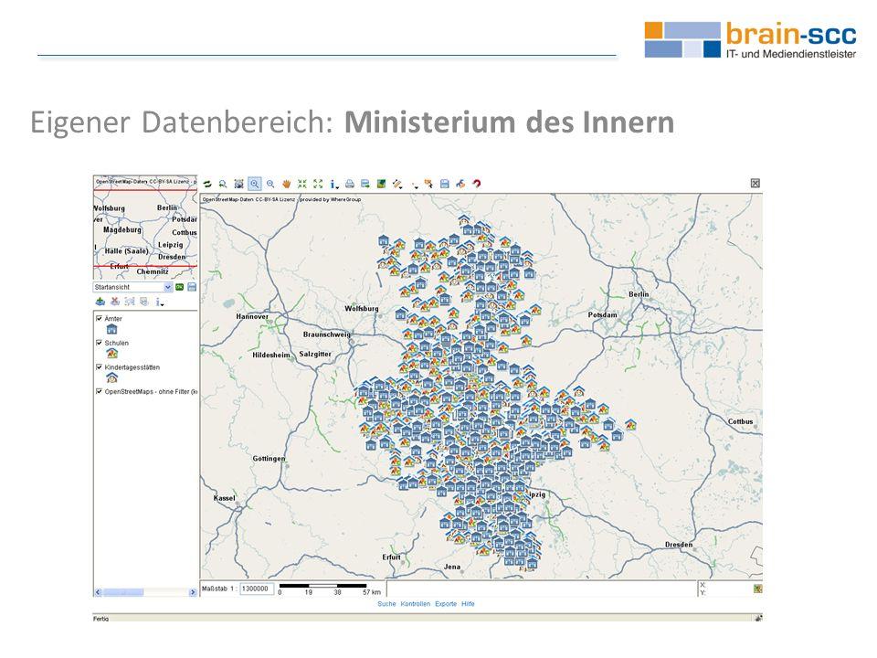 Eigener Datenbereich: Ministerium des Innern